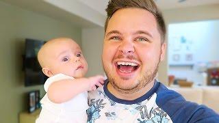 NEWBORN DADDY PRACTICE!