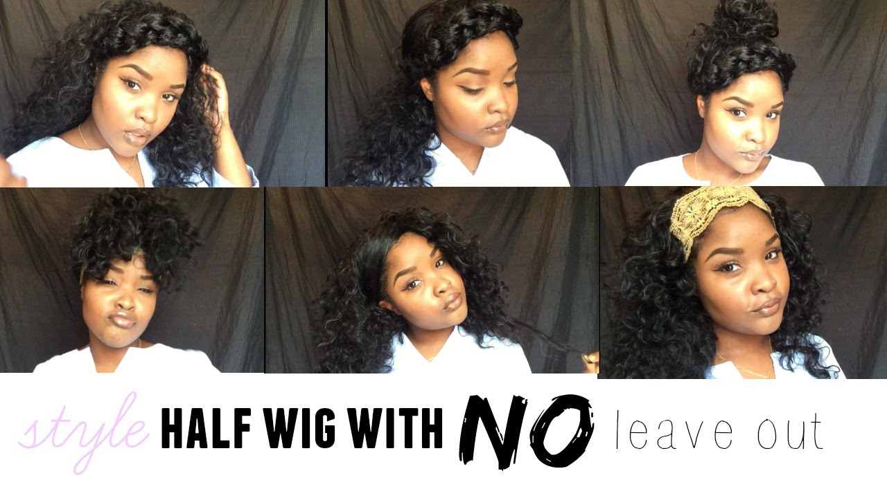 10 Ways To Style A Half Wig With No Leave Out Ft Outre Quick Weave
