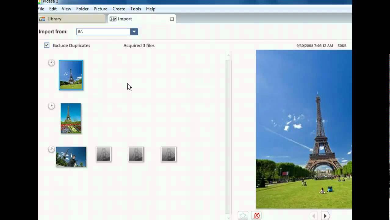 Picasa Training - Import Images into Picasa - Google Tools