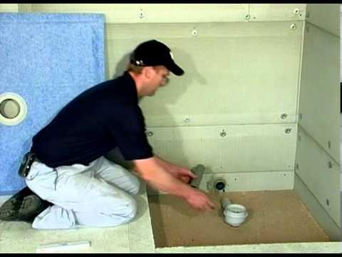 Montage Duschelement für begehbare Dusche