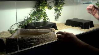 DIY sliding doors and track for reptile enclosure.