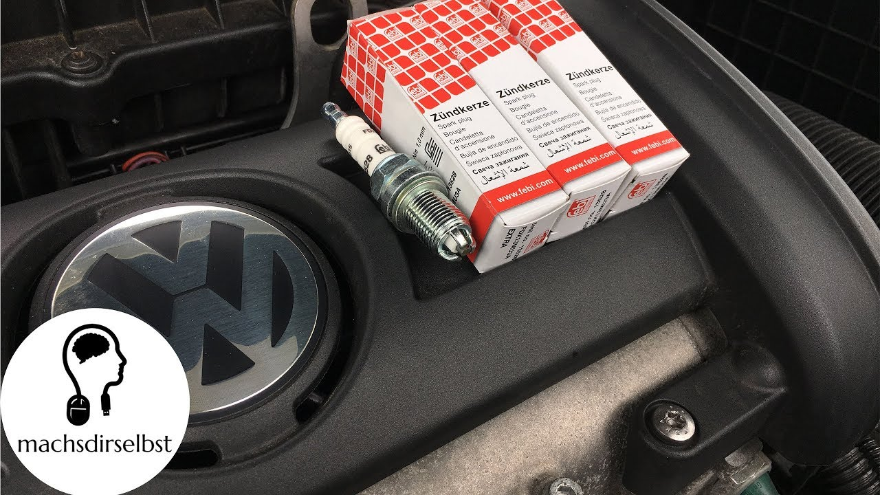 Vw Audi Seat Skoda Zundkerzen Wechseln Tutorial Hd Youtube