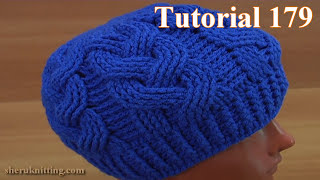 How to Crochet Cable Stitch Hat Tutorial 179