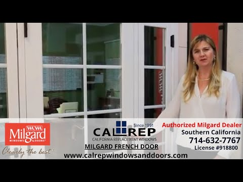 Milgard French Vinyl Replacement Door - California Replacement Windows 714-632-7767 Orange County