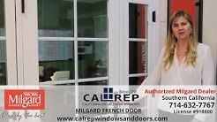 Milgard French Vinyl Replacement Door - California Replacement Windows 714-632-7767 Orange County
