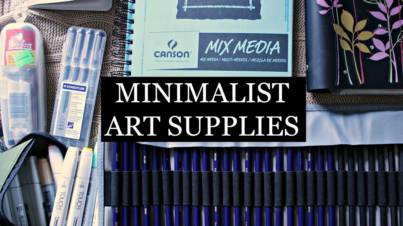 My minimalist art supplies lia 39 s loft youtube for Minimal art youtube