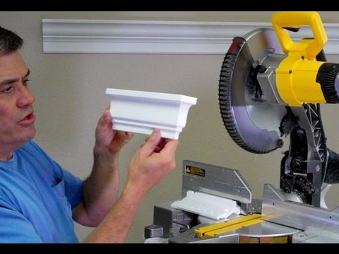 How Cut A Square Dead End On The End Of A Crown Molding