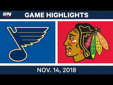 NHL Highlights | Blues vs. Blackhawks – Nov. 14, 2018