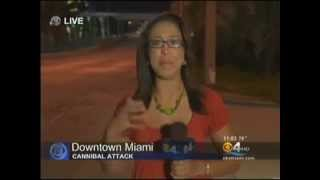 ZOMBIE ATTACK in Miami man eats face like cannibal even after multiple shots fired. Apocalypse 2012