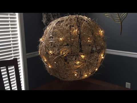 Dollar Tree Twine Lanterns Chandeliers