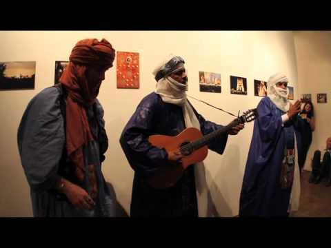 Abdallah Ag Alhousseyni & Hassan of Tinariwen w JeConte at LA Essakane Film Fundraiser