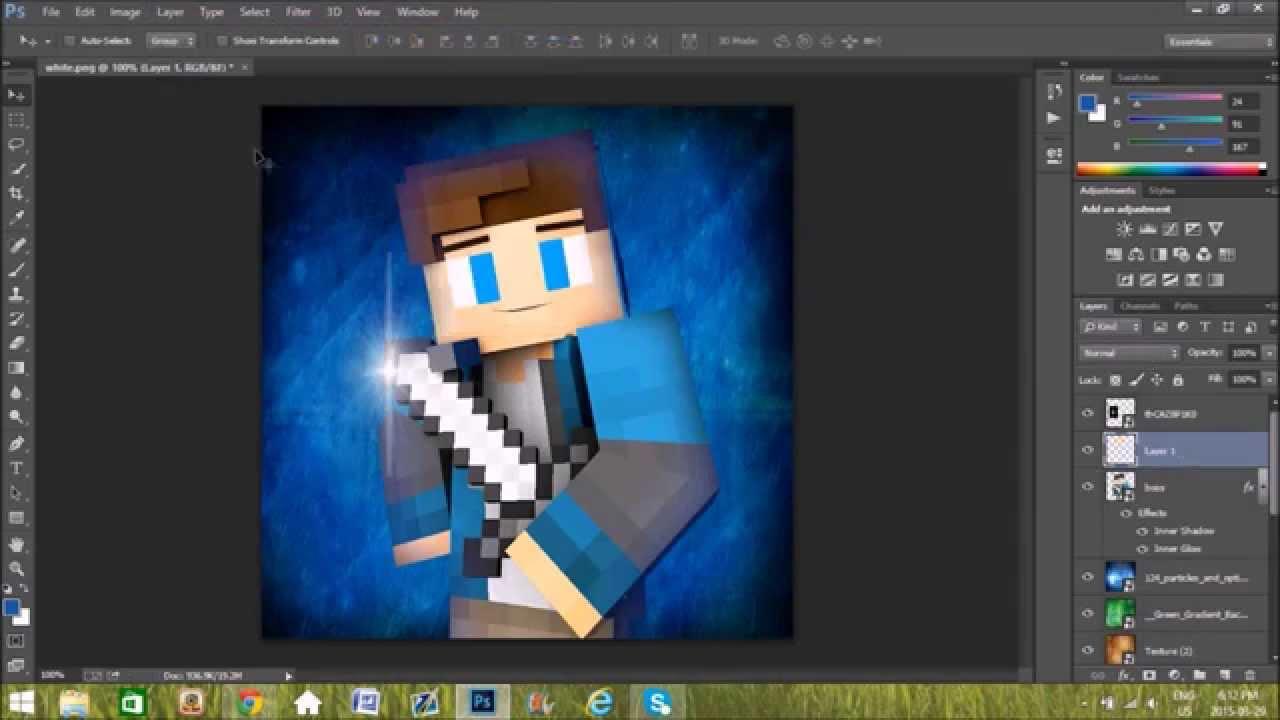 Minecraft Profile Picture Speedart6 Itzboss Youtube
