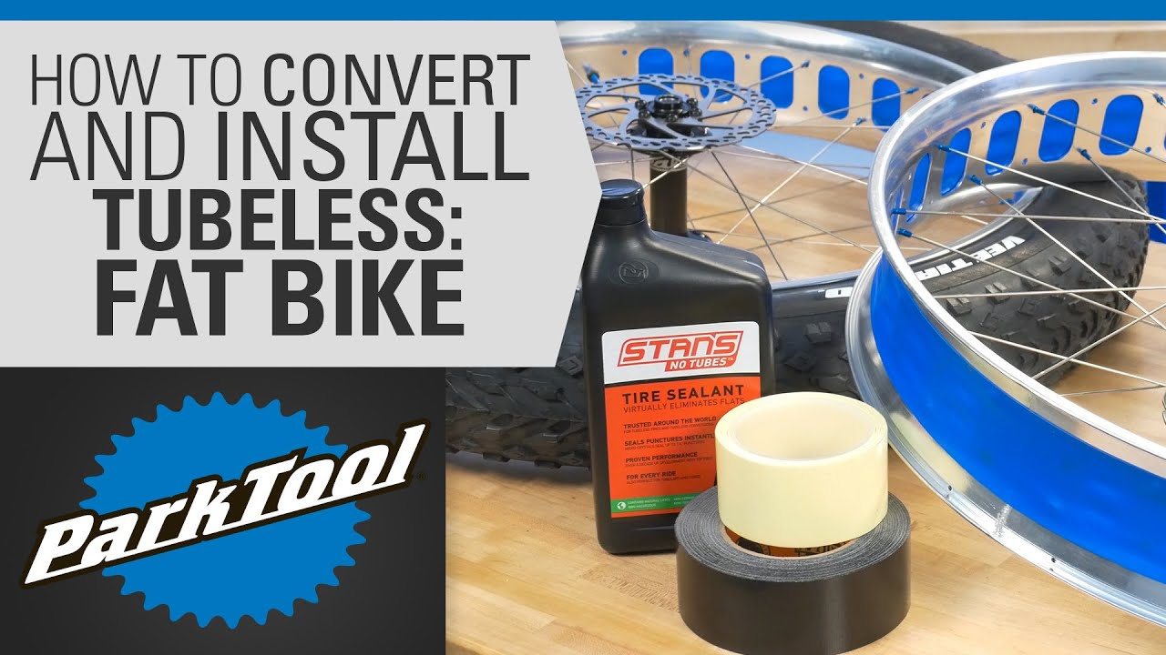 How To Convert Install Tubeless Tires On Fat Bikes Youtube