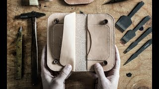 Making a Leather Trucker Wallet