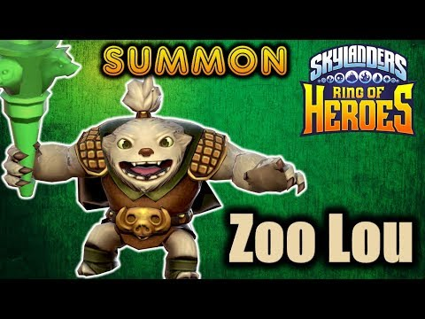Zoo Lou Character Summoning Showcase Skylanders Ring Of Heroes