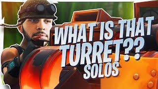 WHAT IS THAT TURRET?! HILARIOUS SOLO GAMEPLAY (Fortnite BR Full Game)