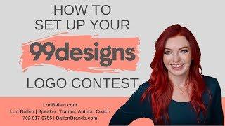 How to Set Up Your 99 Designs Logo Design Contest