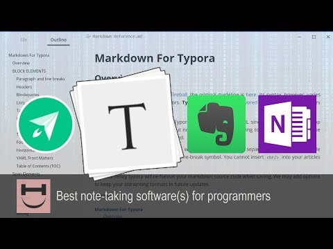 Best note-taking software for programmers - Typora