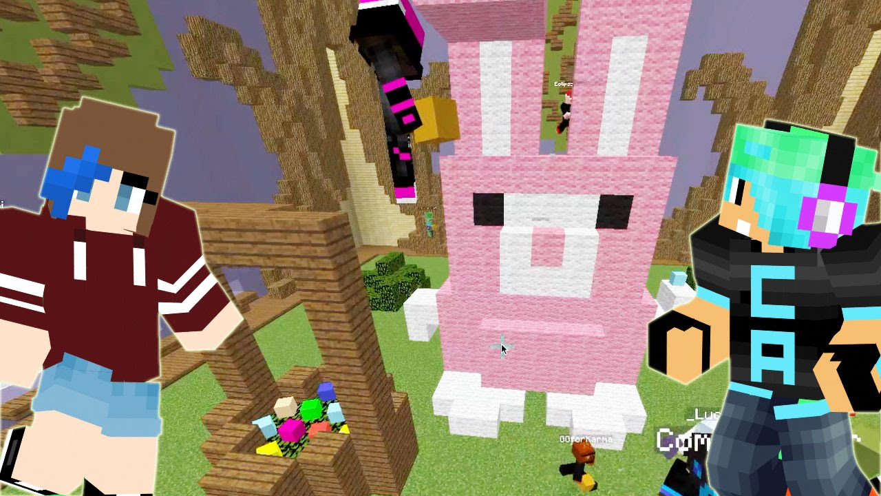Minecraft the easter bunny team build battle game radiojh games youtube Create a house online game
