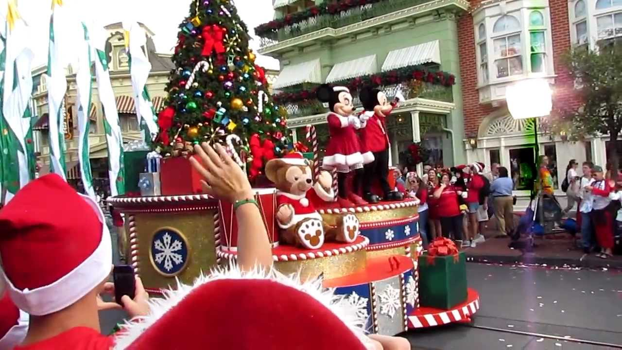 Christmas Day Parade.2012 Abc Christmas Day Parade Taping Magic Kingdom Disney World 12 1 2012 Part 1