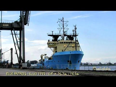 BLUE ANTARES OXJJ6 IMO 8401949 Emden Achor handling vessel Offshore support Seeschiff