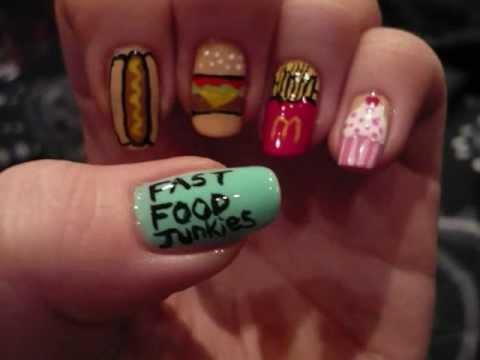 My Entry To Kanasti S Nail Art Contest Theme Junk Food Junkies