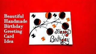 Beautiful handmade Birthday Greeting card idea   DIY birthday card   tutorial