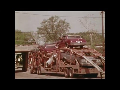 Raw Footage New Car Carrier 1978 Models  GMC Chevy Buick Oldsmobile