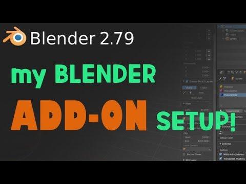 My Blender Add-on Setup