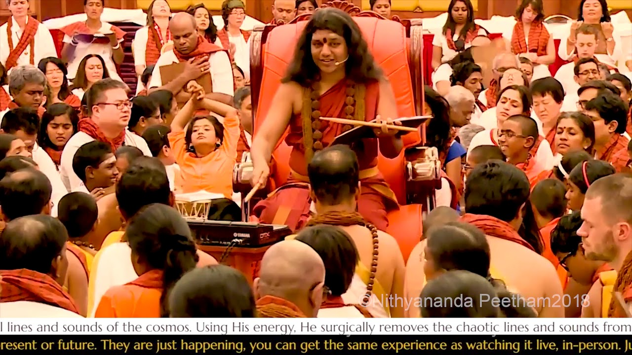 Image result for nithyananda with crowd