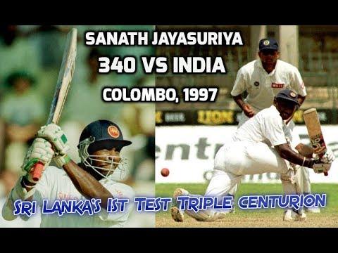 Sanath Jayasuriya 340 Vs India 1997 | Sri Lanka's First Triple Centurion In Tests | MARATHON INNINGS