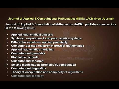 Applied & Computational Mathematics Journals | OMICS Publishing Group