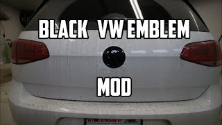 Murdered out MK7 GTI emblems