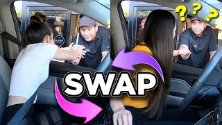 Twin Swap DRIVE THRU Challenge - Merrell Twins