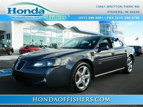2008 pontiac grand prix gxp for sale honda of fishers youtube. Black Bedroom Furniture Sets. Home Design Ideas