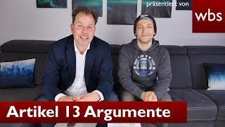 Article 13: Disproving arguments of proponents - Ft. Rezo | Attorney Christian Solmecke