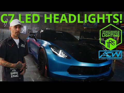 C7 Corvette New Look with Morimoto LED Headlights and Tail Lights - Featuring Overkill!