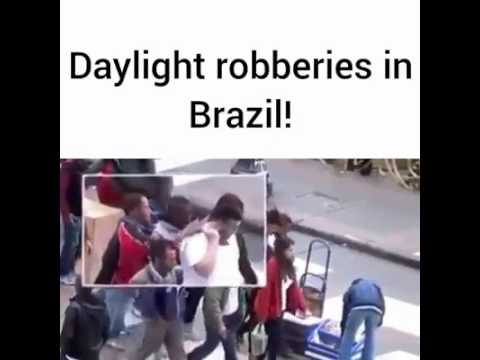 Insane Daylight Robbery in Brazil! This Cant be real.