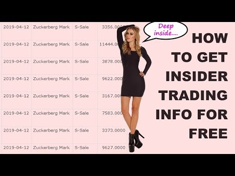 How to Get Insider Trading Info for Free