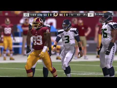 Redskins Vs Seattle Seahawks Madden 17 NFL Highlights Live Stream