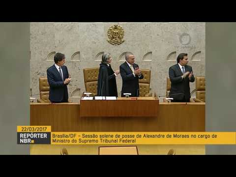 Alexandre de Moraes toma posse como ministro do Supremo Tribunal Federal