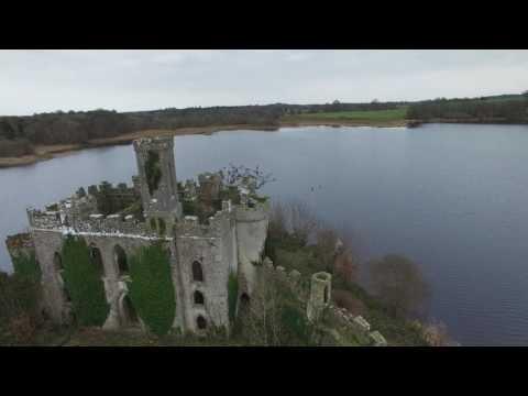 Drone flight over McDermott's Castle, Co. Roscommon, Ireland