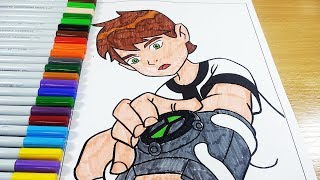 Coloring Pages Ben 10 - Coloring Videos Ben 10 Coloring Book 2018
