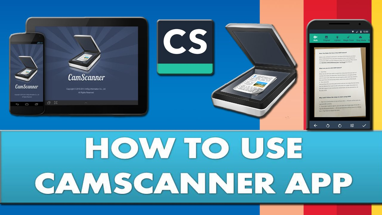 Scan documents on smartphone with Camscanner