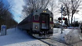 Railfanning Canton Junction in the Snow with Amtrak and MBTA Trains
