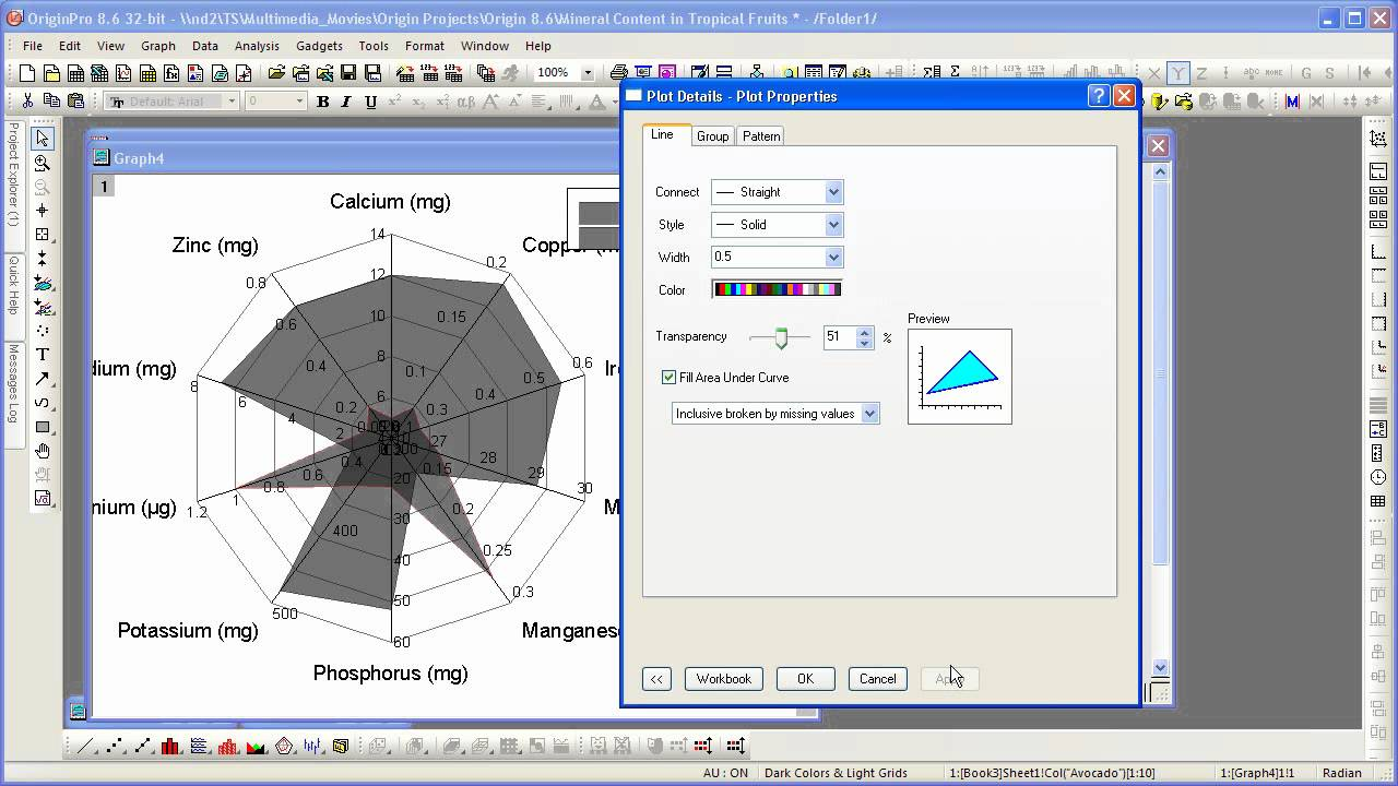 Graphing origin 86 radar chart youtube graphing origin 86 radar chart pooptronica Image collections