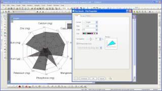 OriginLab® Origin 8.6:  Radar Chart