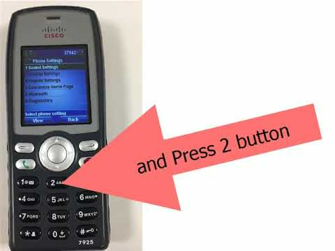 How to factory reset cisco wireless phone 7925