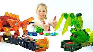 Дикие Скричеры - Новые Машинки Трансформеры. Видео про роботов и игрушки для детей