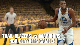 Portland Trail Blazers vs Golden State Warriors NBA Playoffs Game 2